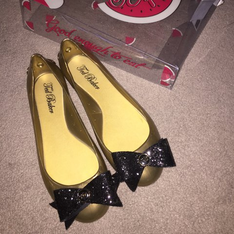 0ae22cf4c017 Ted Baker London Shoes- worn once. Colour- Gold with glitter - Depop