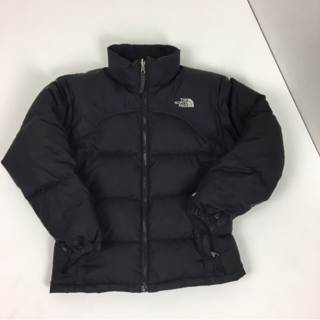 Girls North Face puffer jacket coat black 600. Fits XS (size - Depop 641d2fb55