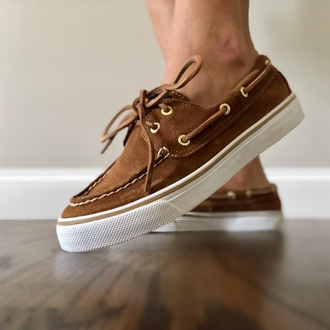 c56e8a3363 Brown suede leather Sperry shoes. Perfect condition