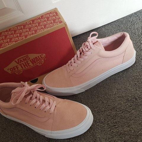 c347f5fa9794 Pink suede vans Size UK 10 Never been worn With box - Depop