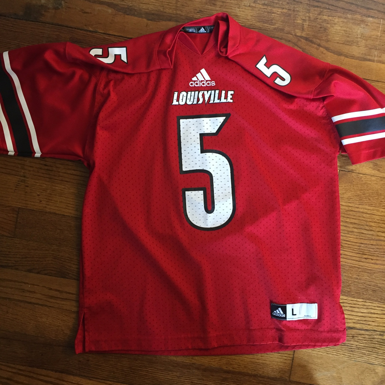 best sneakers fccbc 8fb9d Louisville Cardinals football jersey by Adidas.... - Depop