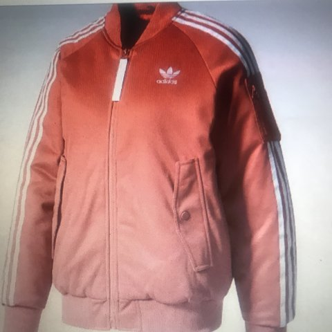 93f04ead2fb3 Adidas Bomber Jacket in pink size 12. But I m size 8-10 and - Depop