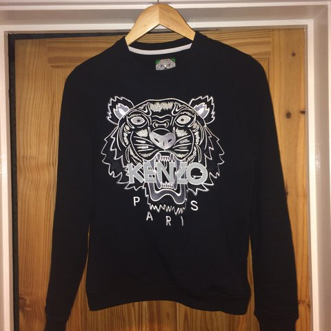 0765c53d @kav_02. 2 years ago. United Kingdom. Kenzo tiger jumper Paris jungle black  and white sweatshirt crewneck size women's ...