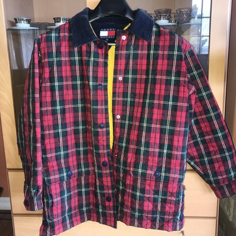 b3f3b3d44 @malikaithegoat. 2 years ago. Seattle, United States. Vintage Tommy  Hilfiger plaid jacket with a corduroy collar. Size small ...