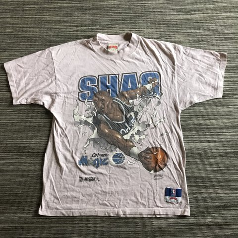 161b7133ad5 Vintage 90 s Shaq o neal Orlando magic t-shirt with nutmeg • - Depop