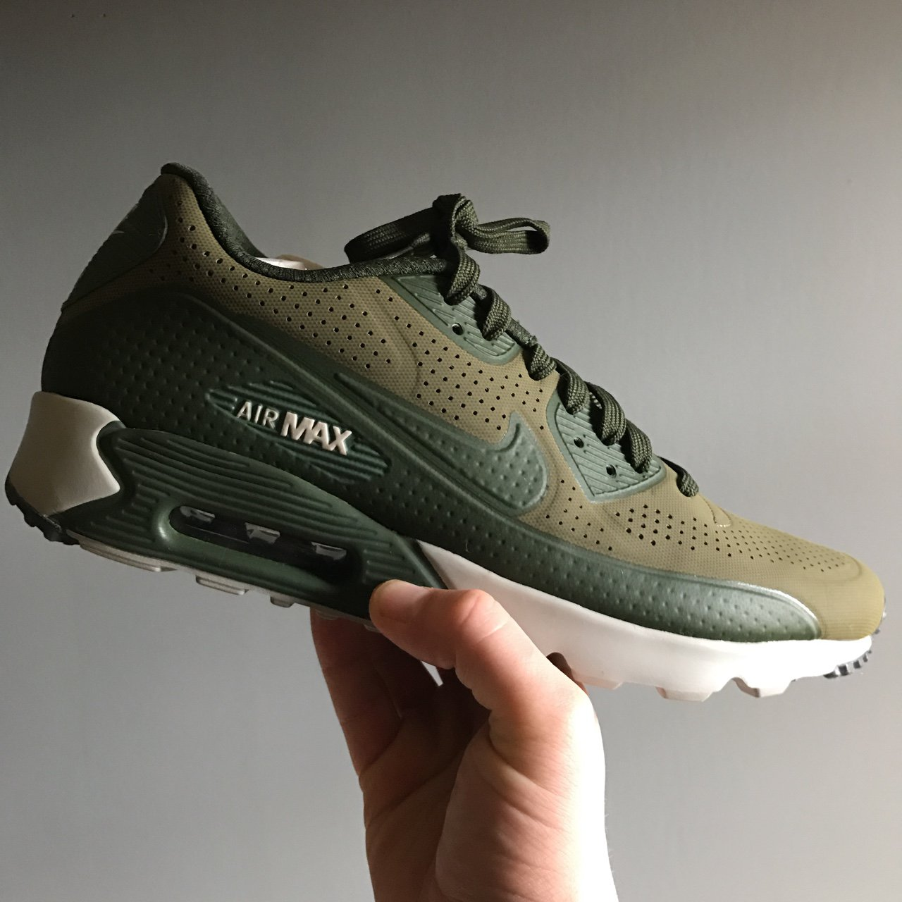 63d578db14 @kmurph17. 2 years ago. Glasgow, UK. Nike Air Max 90 Ultra Moire 'Medium  Olive / Carbon Green' UK MENS ...