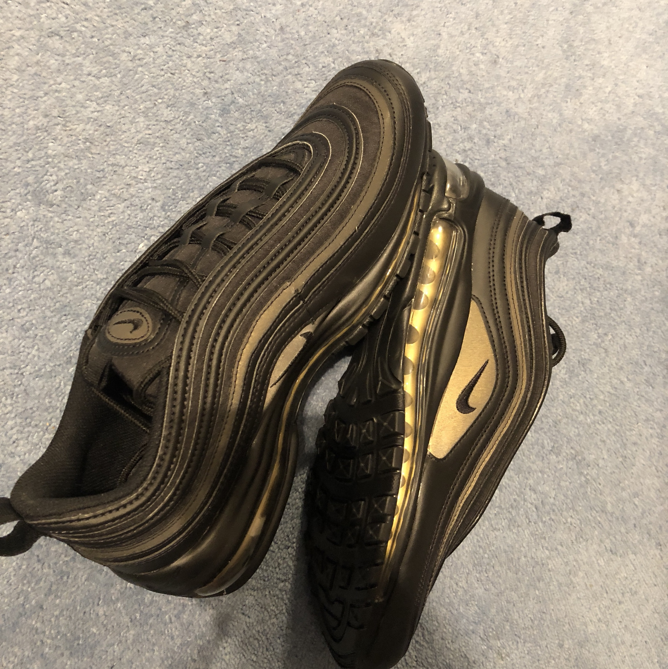 Nike Air Max 97 Triple Black Gold Reflective