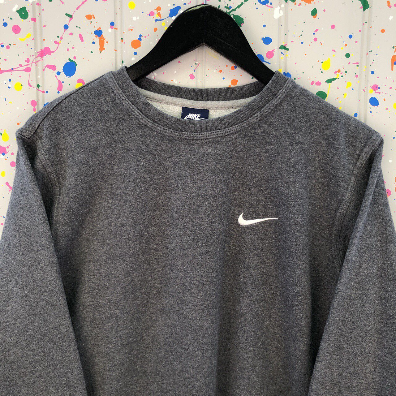Vintage NIKE Grey Sweater • Great Vintage Condition • Swoosh - Depop 8d8a8dfae