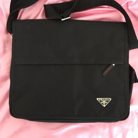 369d656266c2 Prada staffano genuine laptop bag messenger bag beaut cheap - Depop