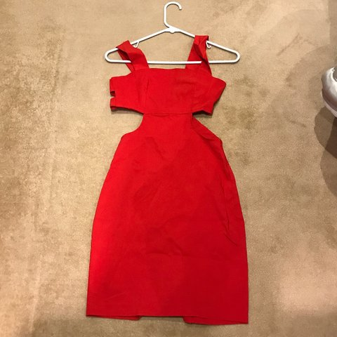 1dce42ff1a91 red #cocktail #dress from #ASOS gorgeous cutout style in a - Depop