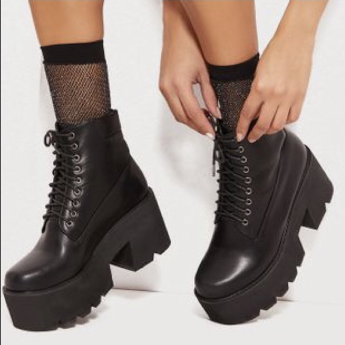 black chunky festival boots These are