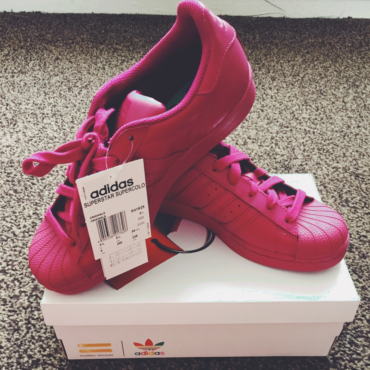 a876fb1638ae7 Brand new Adidas superstars from pharrell williams UK size - Depop