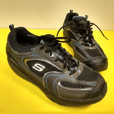 f7198ca9 @thisisgoodtoast. last year. Salt Lake City, Salt Lake County, United  States. Vintage Skechers shape-ups platform sneakers, black ...