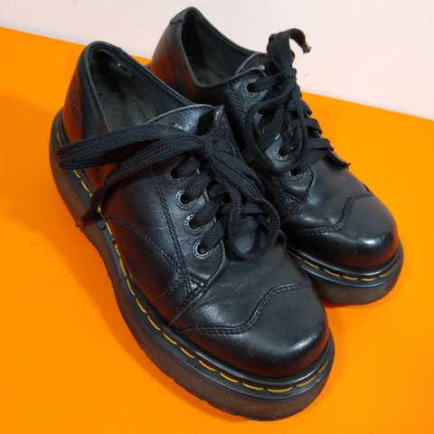 74d916290a38 Gorgeous black leather vintage oxford Dr. Marten platform in - Depop