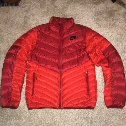 817c125c7237 Nike red puffer jacket •Size small men s •Can fit to pm - Depop