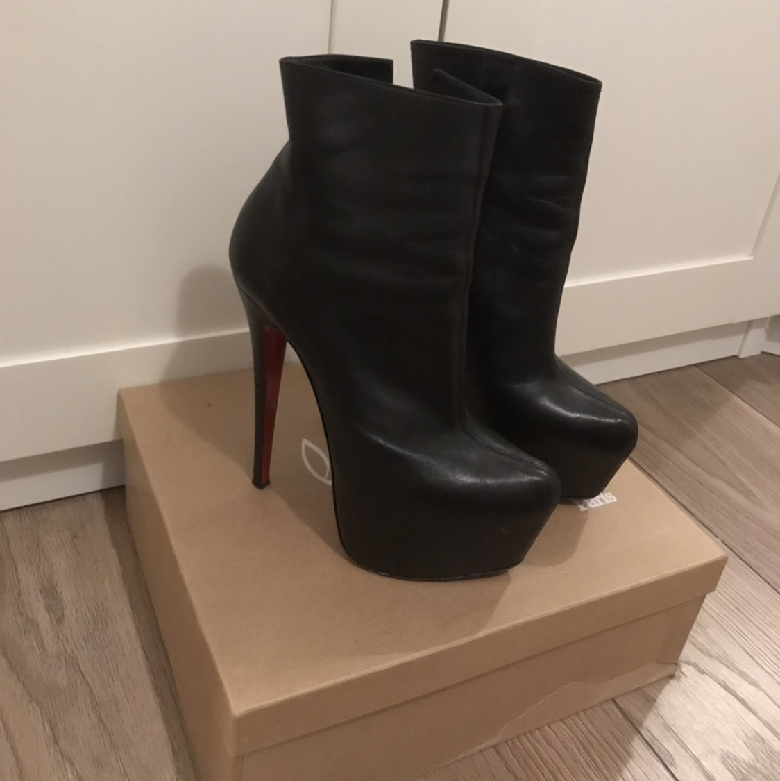 official photos 0bb36 c75d9 Daf Booty Christian Louboutin heel boots. Size 5. My... - Depop