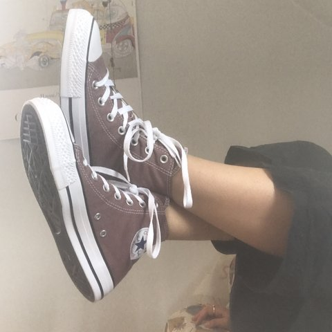 6eebbc4a39b BRAND NEW converse high tops in saddle color. Discount - Depop