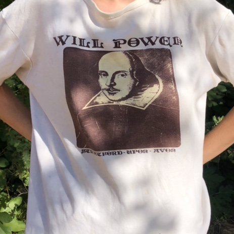"Shakespeare ""Will Power"" Tee For The Literary Nerds by Depop"