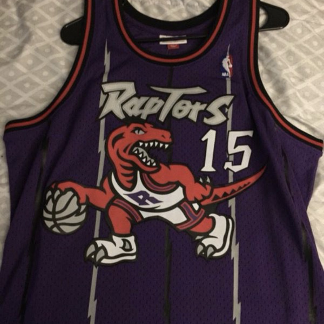 quality design 8e618 f4ba3 Authentic Toronto Raptors Vince Carter