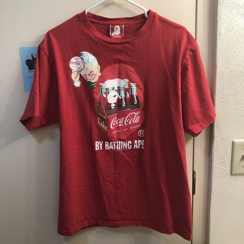 f8d1a8b1 @wavywarrior. 3 months ago. Whitewater, United States. A Bathing Ape x Coca  Cola 2014 Capsule Collection T-Shirt. Size XL but shrunk to fit ...