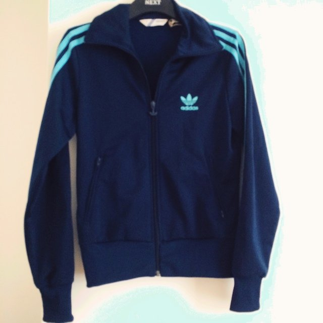 e5844a85089 @missreah. 5 years ago. London, United Kingdom. Adidas tracksuit top. Navy  blue. Womens ...