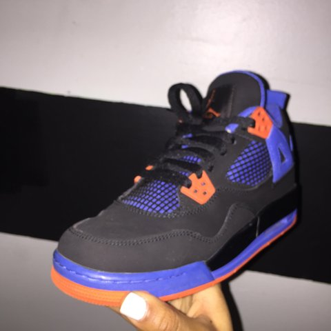 buy online eeabd 4472c  unfadable. 2 years ago. Clinton, MD, USA. Air Jordan 4 Retro (GS) Black Safety  Orange - Game Royal.