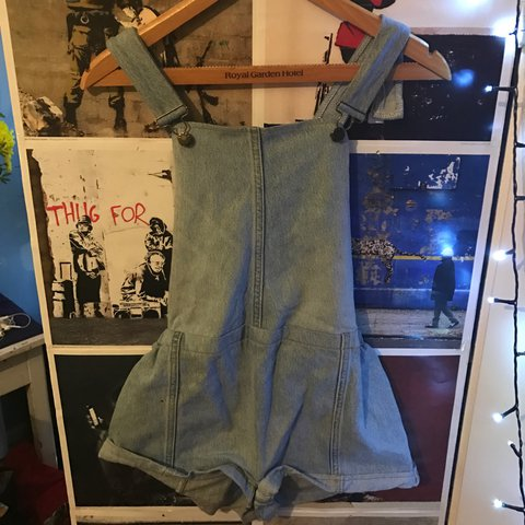 78f2e3a6c6e Denim dungarees bought in Camden market for 30 tiny stain on - Depop