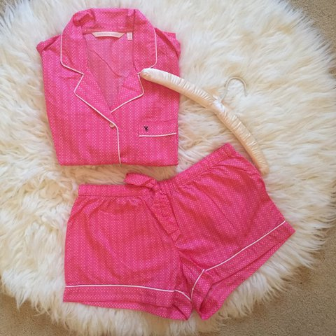 55d4e9abbb 100% cotton Sleep set 😌💕 vintage VICTORIA S SECRET pj set! - Depop