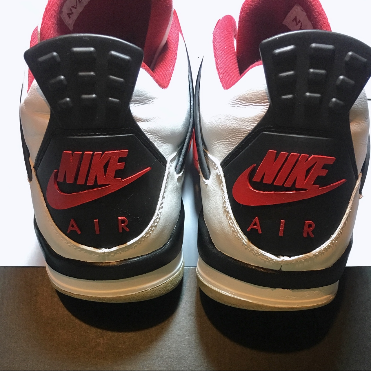 OG AIR Jordan 4 Fire Red 2012. AIR Jordan Tab has Depop