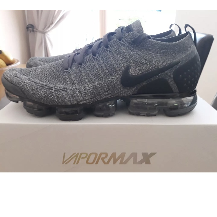 check out a248d d6692 Nike Air Vapormax Flyknit 2 2.0 Oreo wolf grey and... - Depop
