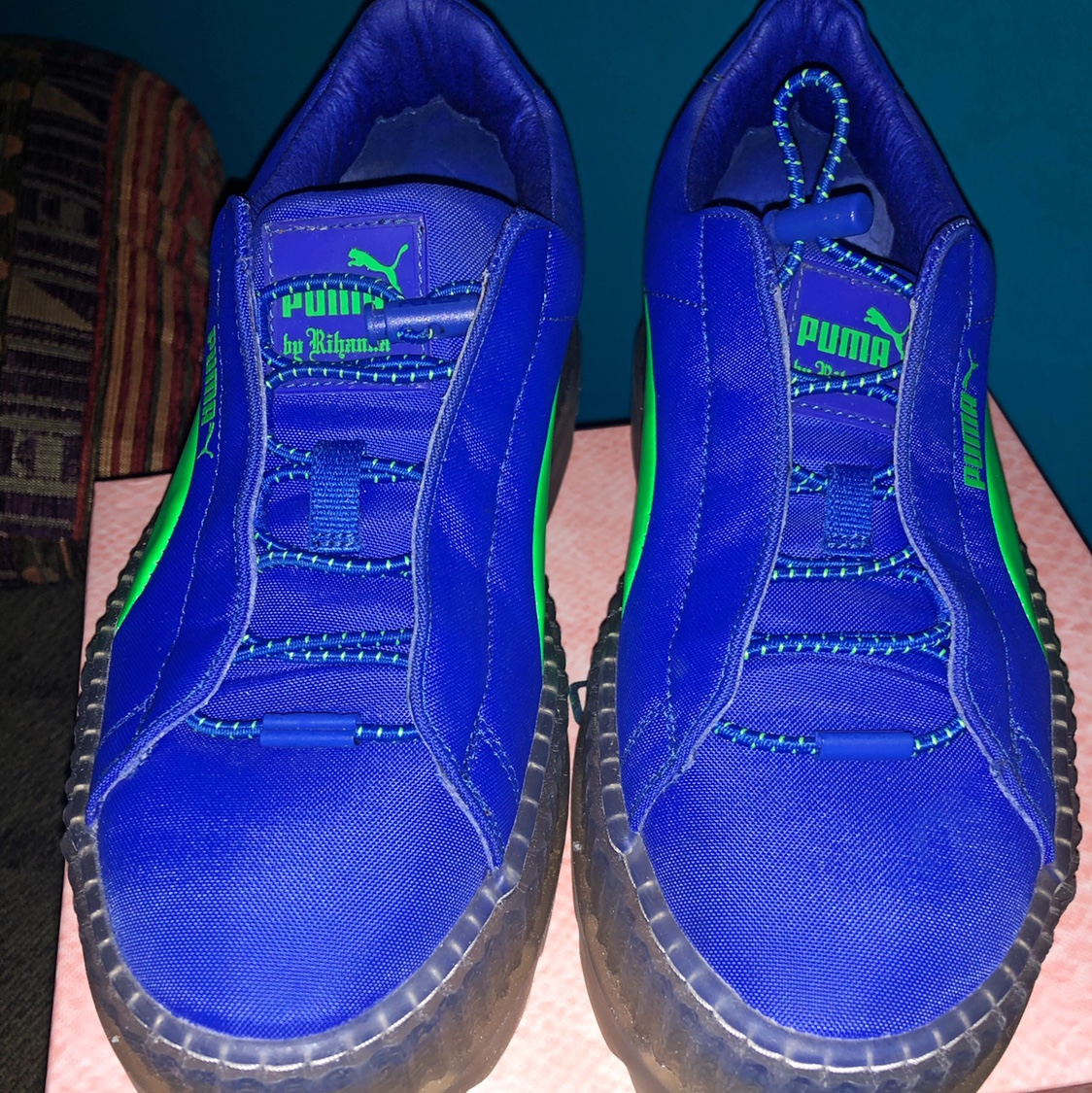 separation shoes 894c0 4715f Puma Cleated Creeper Surf Rihanna Fenty Blue AND ... - Depop