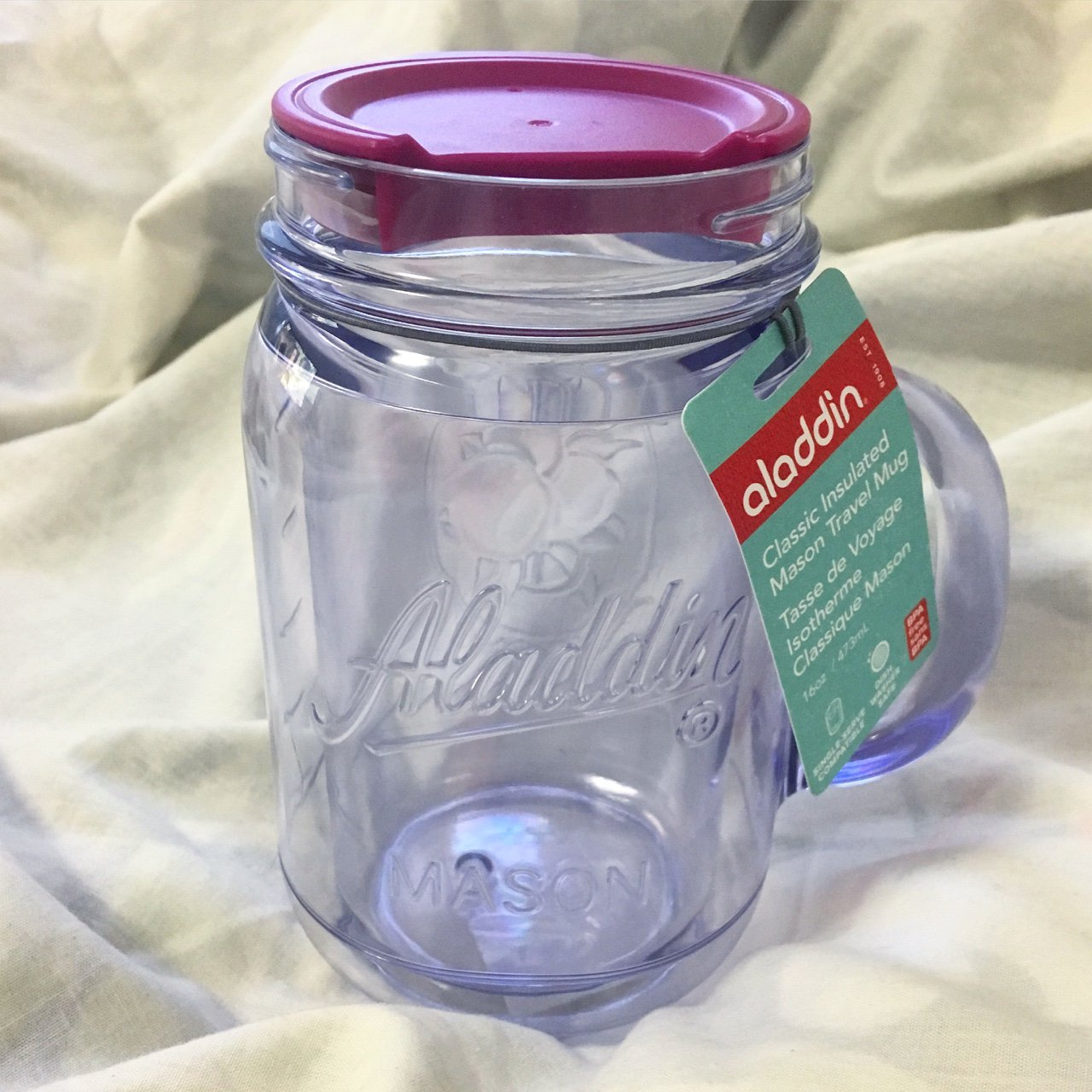 Brand New Insulated Travel Mason Jar Mug Dishwasher Safe Depop