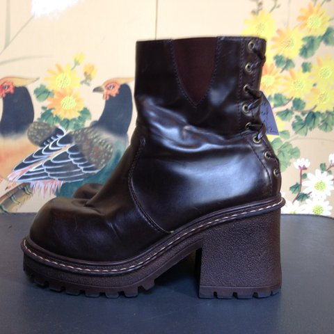 4aa31df24c12 90s No Boundaries platform boots with a lace up on the heel