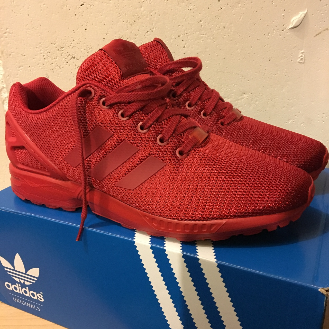 separation shoes 4b890 39ee6 Adidas Originals ZX Flux - Triple Red / NEVER WORN ...