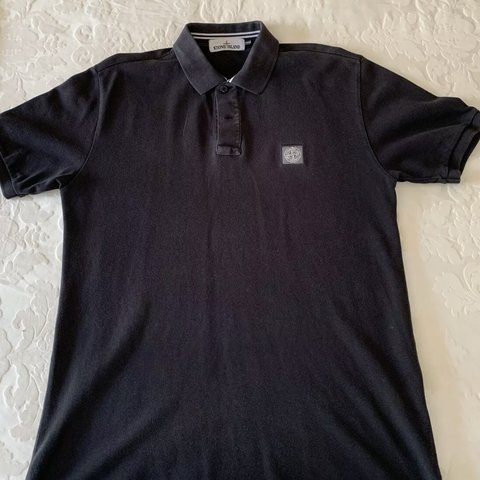 a00eeef57 Stone island polo Garment dyed In charcoal Large slim fit - Depop