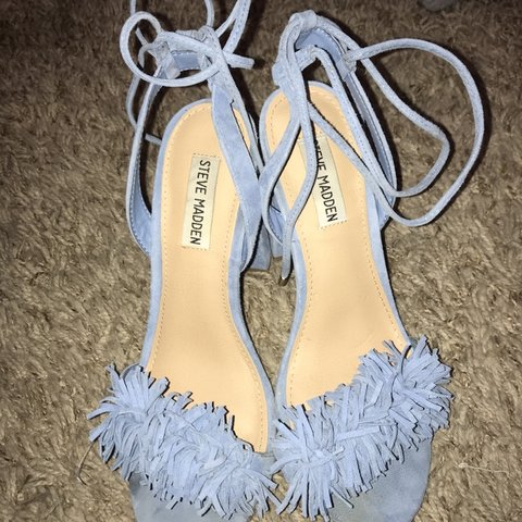 1f9fe87d89a Light blue high heels from Steve Madden! Size 7.5   worn hot - Depop
