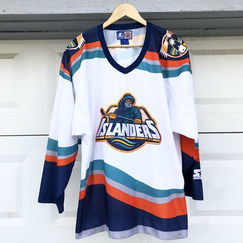 Vintage New York Islanders Fisherman Starter Jersey Very In Depop