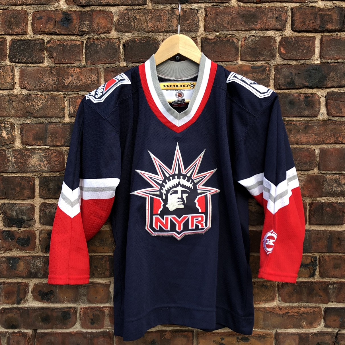 low priced 98822 a93b9 Vintage New York Rangers Lady Liberty 90s Jersey by ...