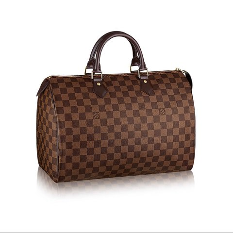 4cfb2f5042a1 Lightly used authentic Louis Vuitton Speedy 35 luggage to no - Depop