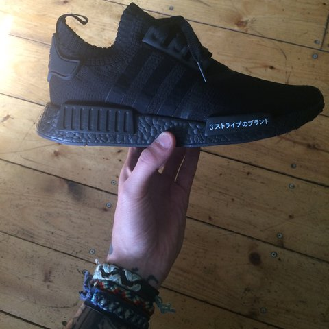0644f964d Adidas NMD R1 Japan Triple black 3M Size U.K. 9 Foot UK - Depop