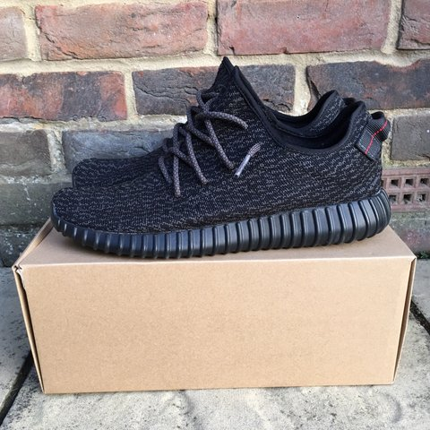 6467b7897aa12 Adidas Yeezy Boost 350 Pirate Black 1.0 V1. Worn but in Very - Depop