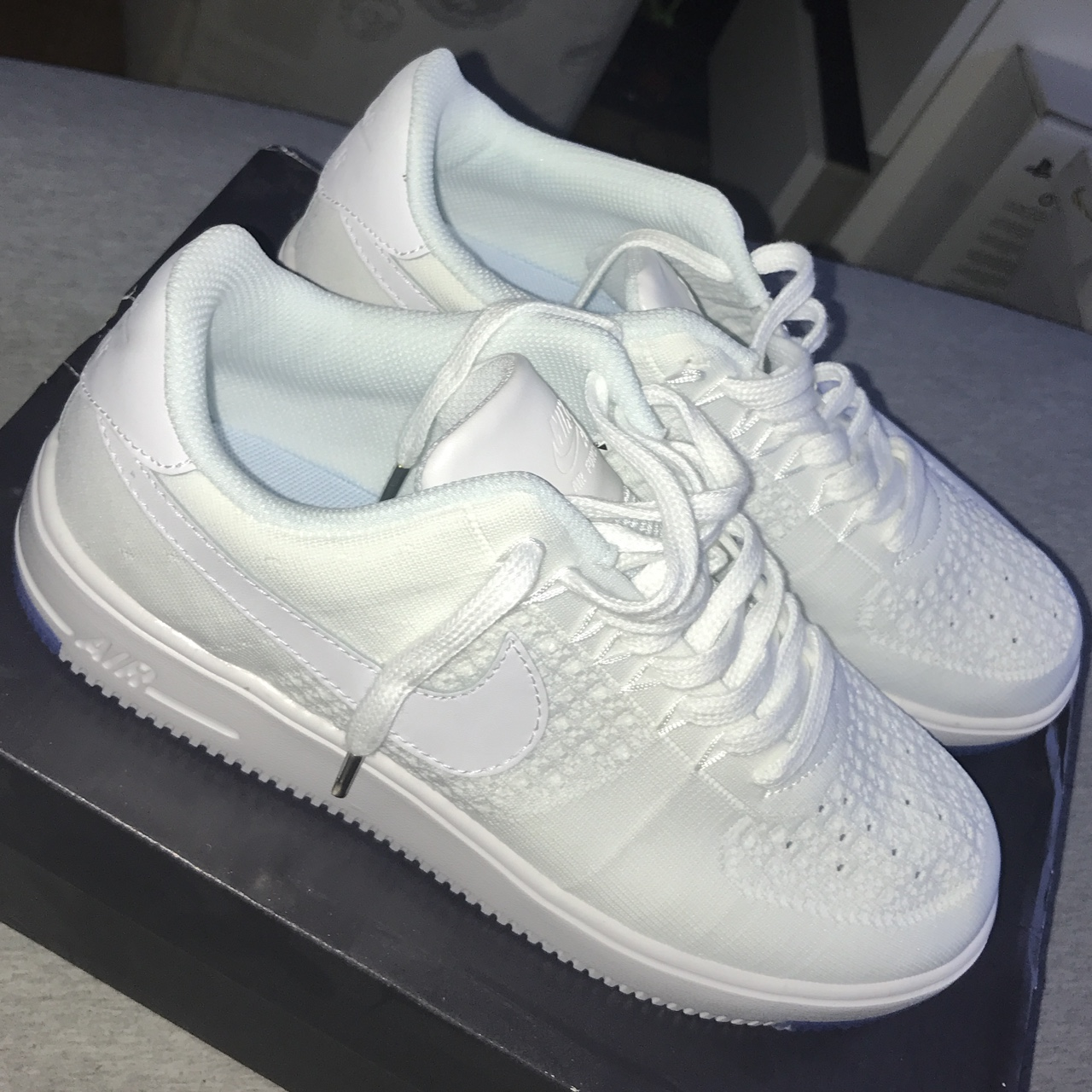 outlet store 4f66a 8680b Nike Air Force 1 Flyknit, Brand new never worn.... - Depop