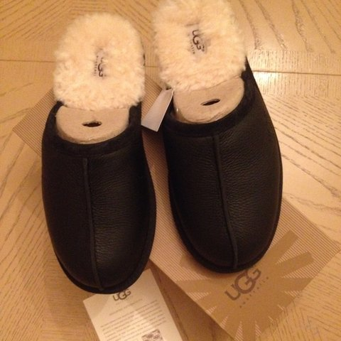 Genuine Leather Ugg slippers size 8 unwanted gift perfect - Depop 97519ef8c