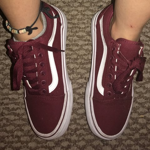 daccd51c2e1 Burgundy vans. Worn like twice.. Don t want to let these go - Depop