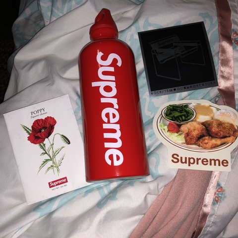 24d88b711b @rebecca9926. last year. United States. Supreme water bottle. Brand New  Comes w stickers ...