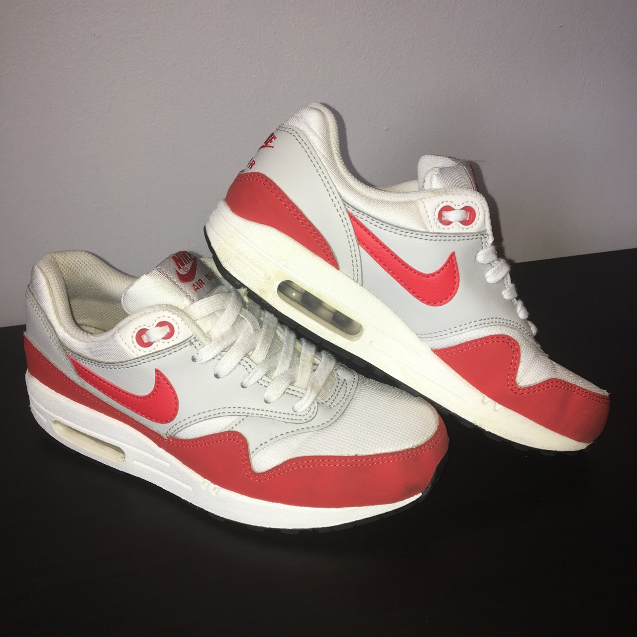 NIKE AIR MAX 1 anniversary Red. White and red ⚪️</div>