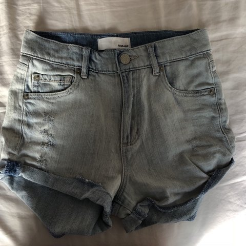6a60356ced garage jean shorts size 00. good quality but the bottom fold - Depop