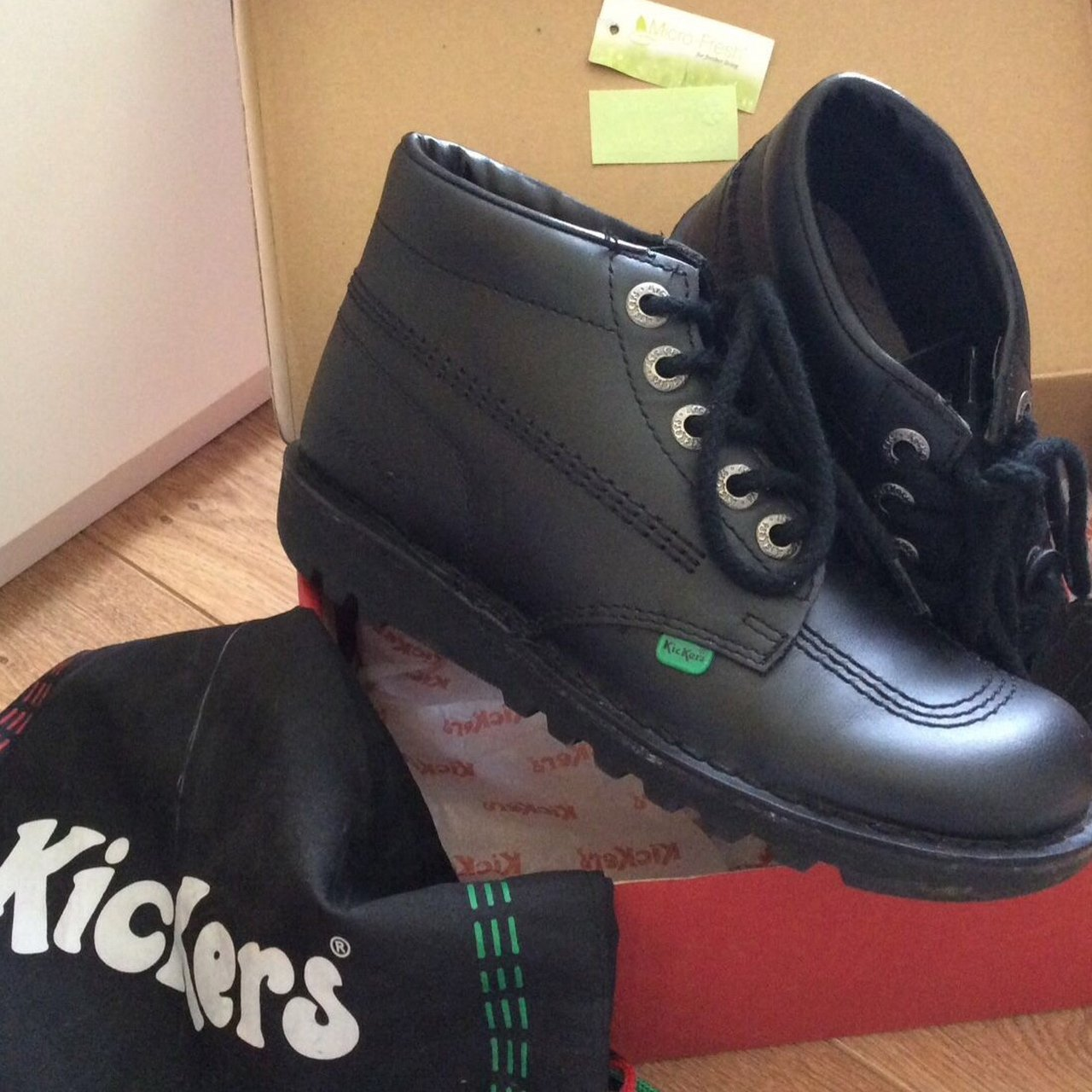 Size 5 Kickers School Shoes for women girls These are 100% - Depop 6c6b910a7