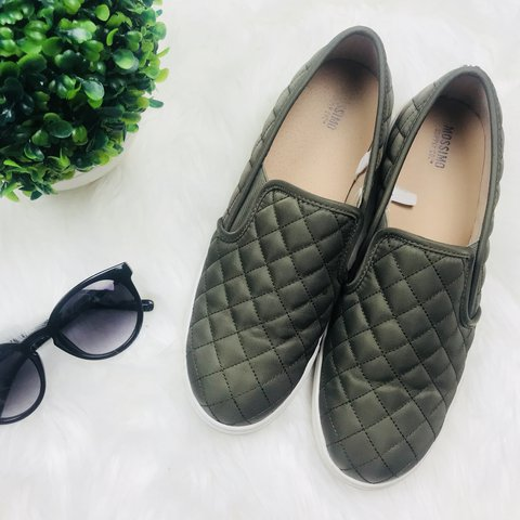 2cd66ab84043 Mossimo Supply Co. Women s Reese Slip On Sneakers - Green in - Depop