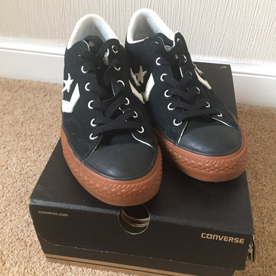 Star player ox Converse Black, with gum sole Size Depop